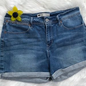 Levi's Blue Jean Shorts Rolled Sz 30 Red Tab